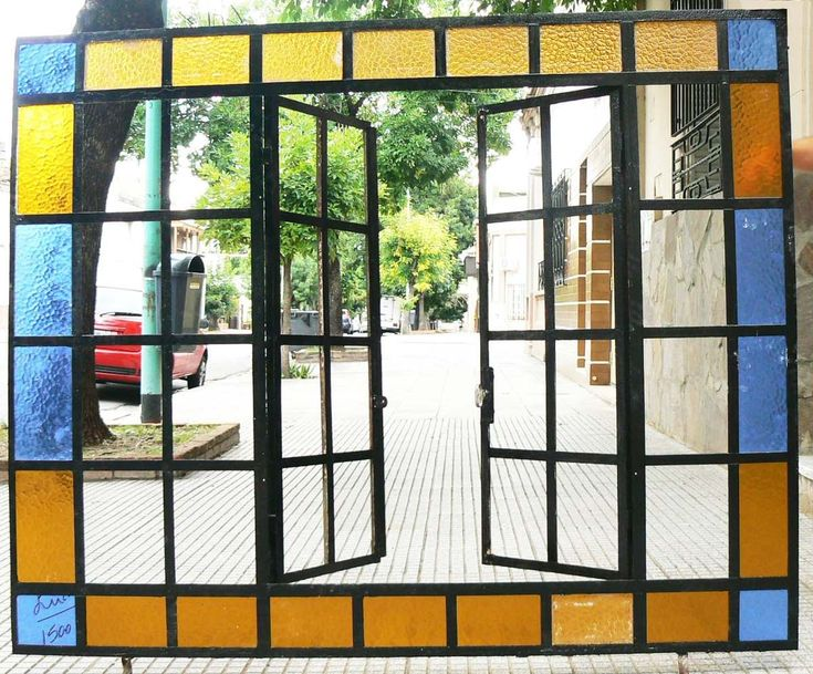 ventana mampara en hierro a vidrio repartido ° estilo hogar°