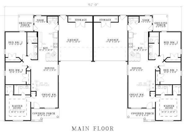57 best home layout multi home images on pinterest for Back to back duplex house plans