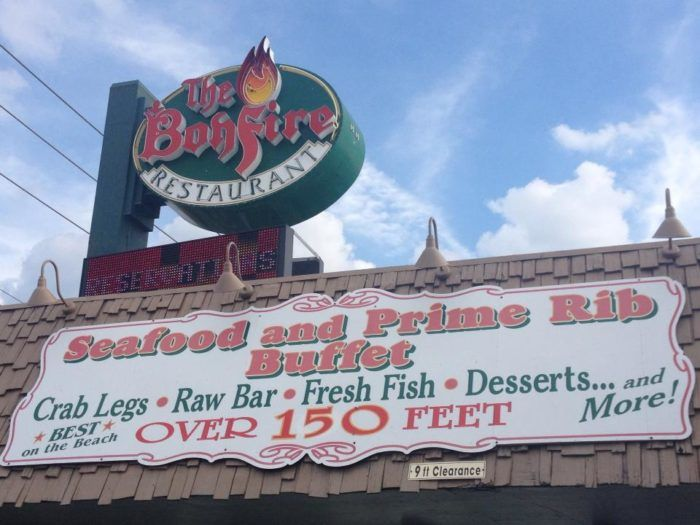 The Bonfire Restaurant is known as having the best buffet in Ocean City, Maryland.