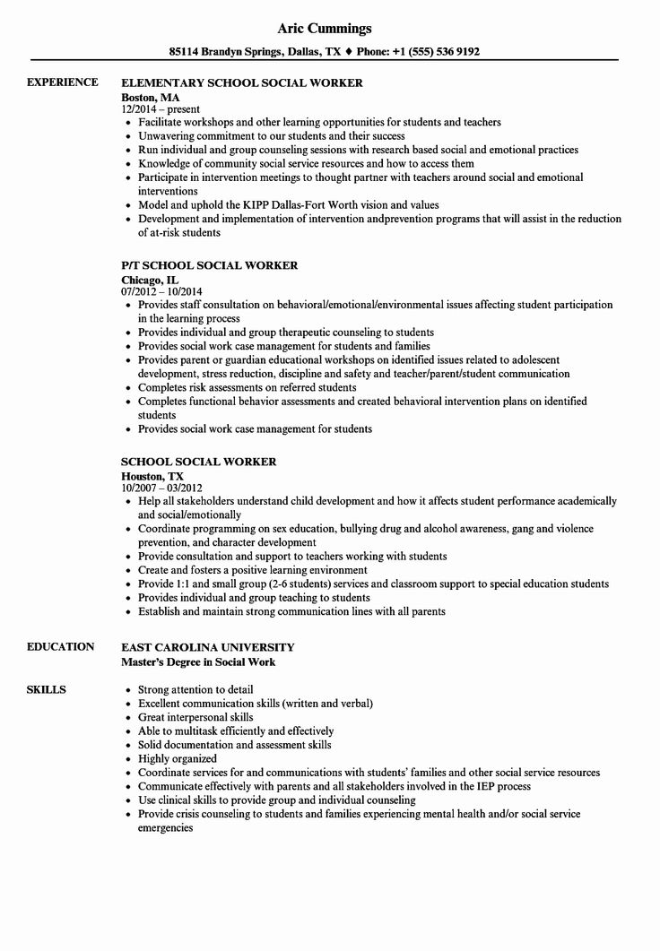 50 Awesome social Worker Resume Template in 2020 (With