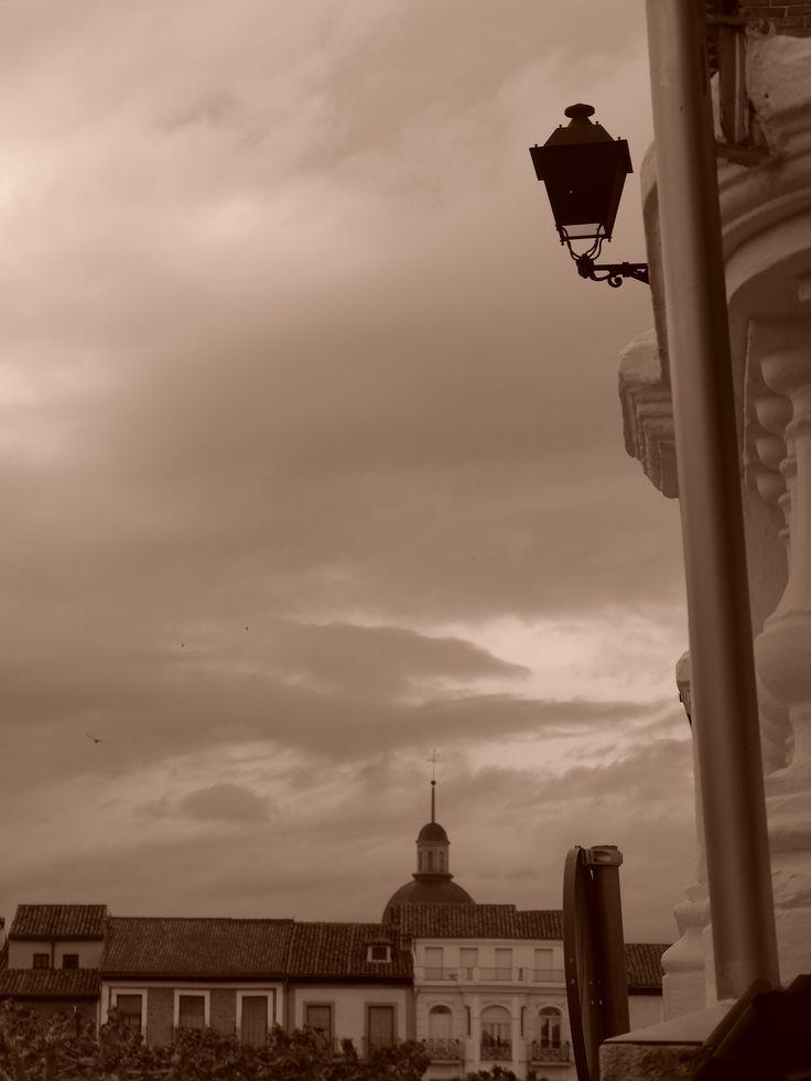 Cúpula de San Juan de la Penitencia y Plaza Mayor, desde el casino de esta