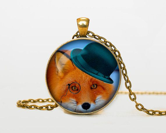 Steampunk Fox pendant Steampunk Fox by RainforestNecklaces on Etsy, $14.50