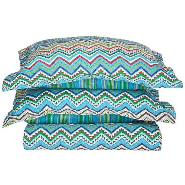 eLuxury 3-Piece Zig-Zag 100% Cotton Quilt Set ($90) ❤ liked on Polyvore featuring home, bed & bath, bedding, quilts, chevron quilt set, chevron twin bedding, chevron bedding, full/queen quilt set and king size quilt sets