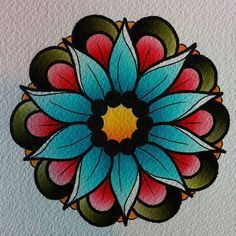 neo traditional flower tattoos - Google Search
