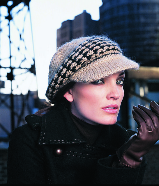 Hound's-Tooth Cap pattern by Lipp Holmfeld in Vogue Knitting: The Ultimate Hat Book