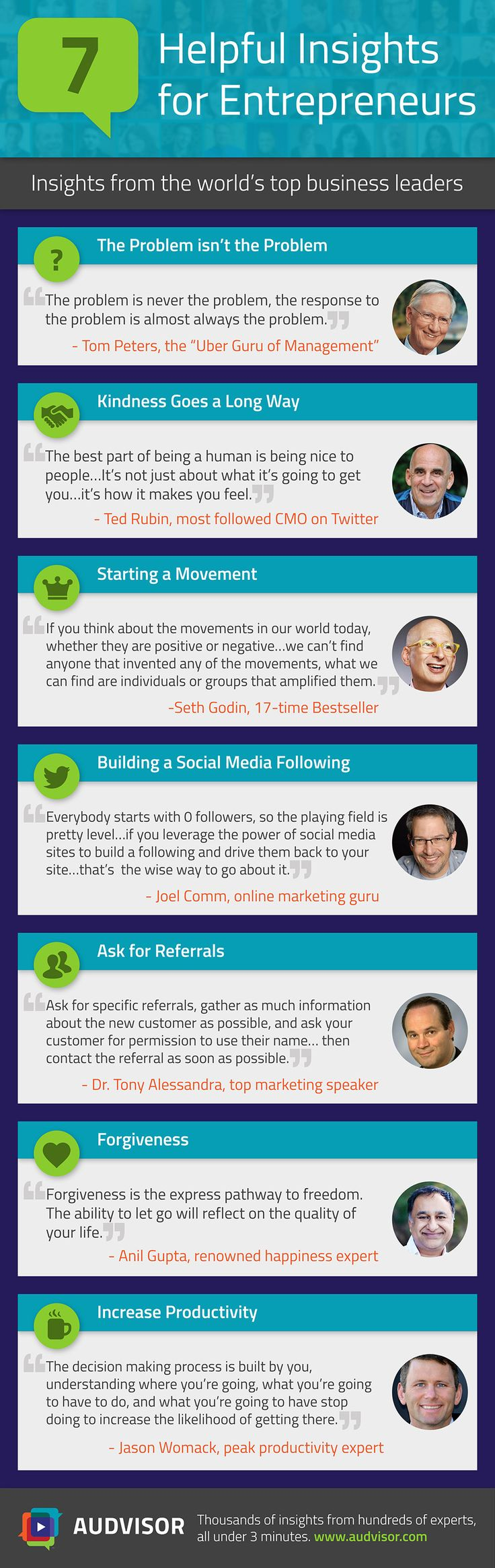 7 Leaders With Sage Advice for Business, and Life (Infographic)   Inc.com