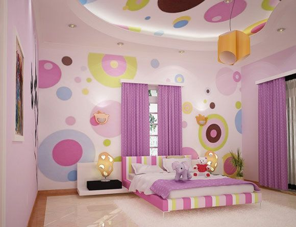 Playful bedroom for your baby girl!