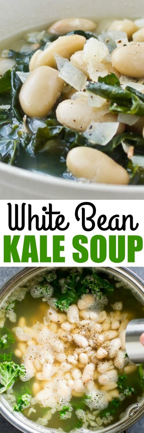 Jump-start your healthful eating habits with my easy White Bean and Kale Soup. It only takes 4 ingredients and 30 minutes. Naturally vegan and gluten free.