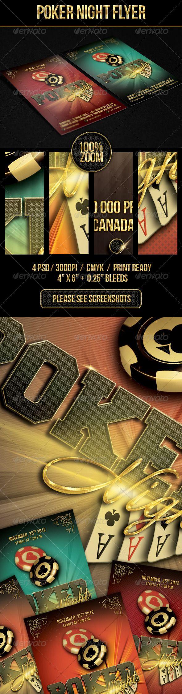 Poker Night Flyer Te...