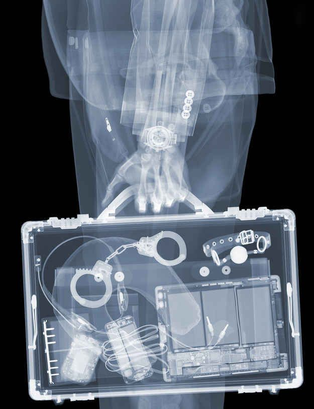 Veasey never set out to be an artist, but his work evolved of it's own accord and his love for the X-ray image.