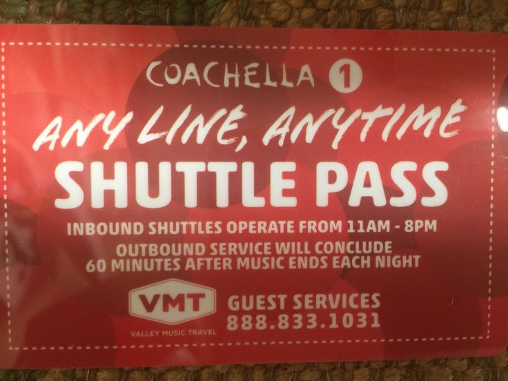 #tickets Coachella Weekend 1 - Shuttle Pass - 3 Available please retweet