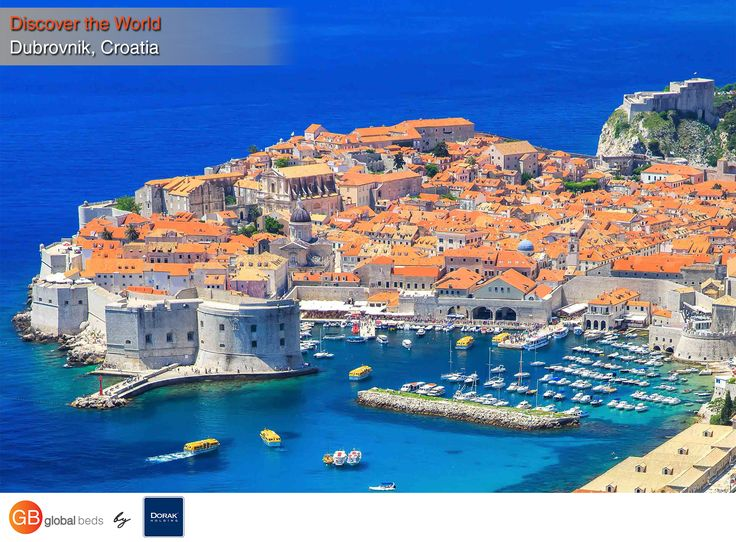 """With its limestone-paved streets and 80-foot-high walls surrounding Old Town, this star of the Dalmatian Coast has long been able to rest on its aesthetic laurels — you might recognize it as King's Landing on """"Game of Thrones.""""  #Dubrovnik #Croatia #DalmatianCoast #discovertheworld #todayspost #view #viewoftheday #views #GB #GlobalBeds"""