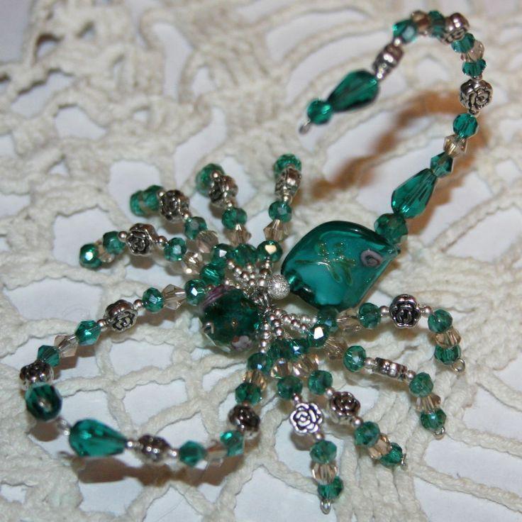 BEAUTIFUL~Decorative Swarovski & Austrian Crystal Beaded Scorpion~ NEW~Handmade