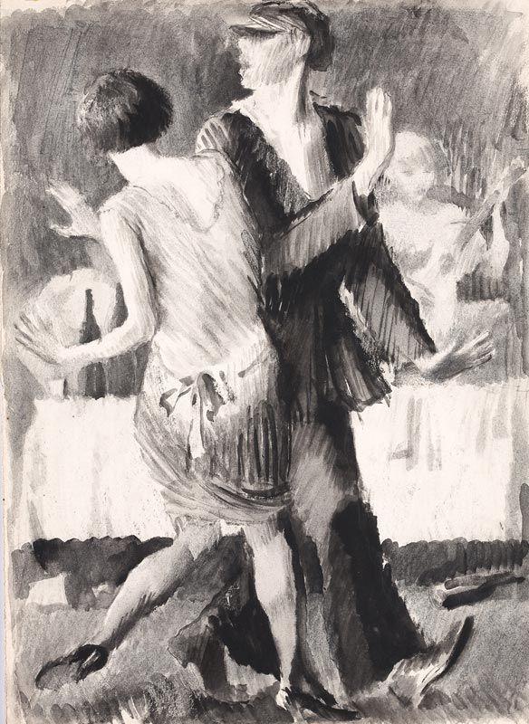 Vladimir Lebedev - ВЛАДИМИР ЛЕБЕДЕВ Танец («Сыпь, Семёновна, подсыпай, Семёновна!»). 1927. Бумага, тушь, кисть. 33,7 x 24,9