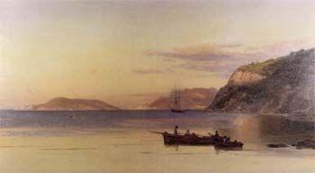 'Il Golfo di La Spezia' Pietro Senna olio su tela, cm 85x150  Pinacoteca Comunale Foresiana, Portoferraio