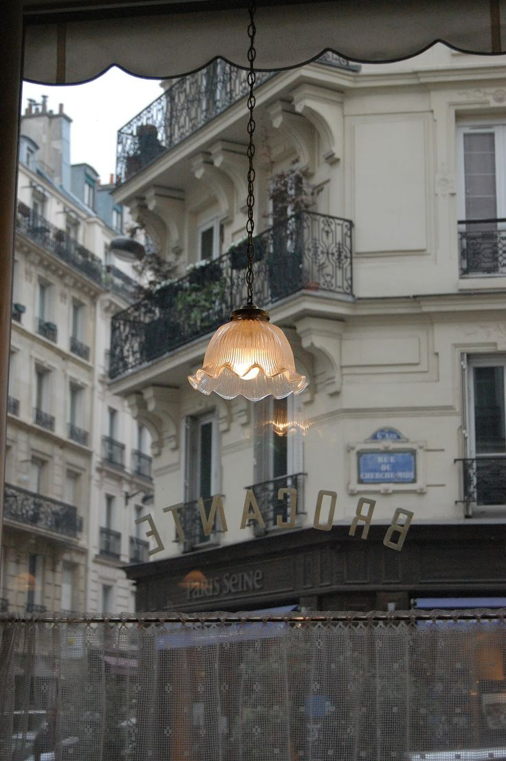 view from a parisian cafe window