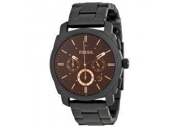 Reloj Fossil R12011 Negro movimiento de cuarzo $489.900