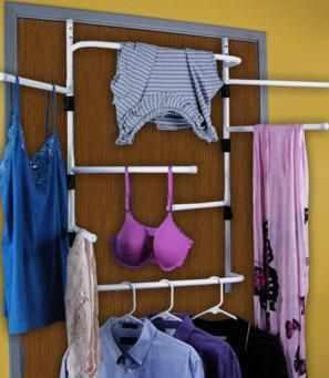 Over The Door Drying Racks Work Well If You Want To Save On Floor Space And