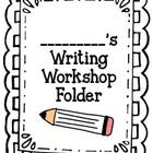ON SALE TODAY! Writing Workshop Folder Resources!