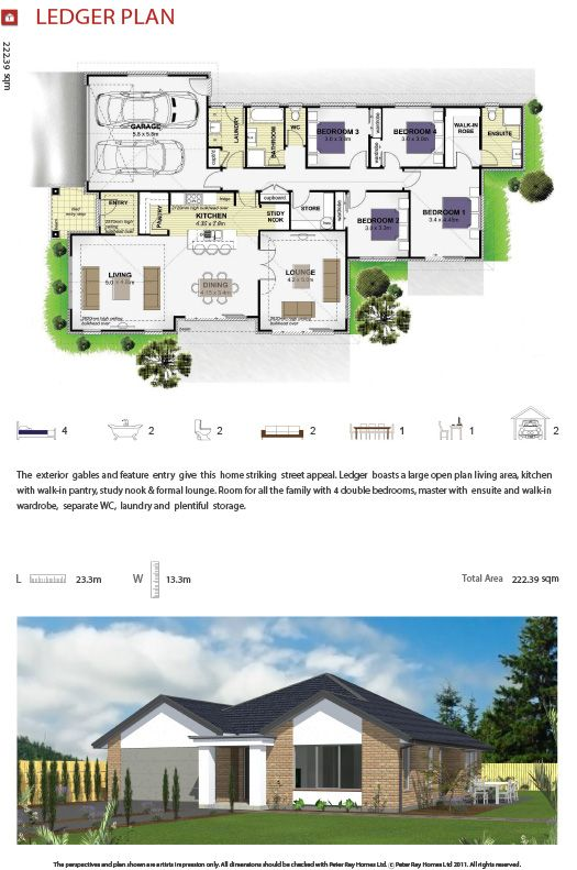 Peter ray homes single storey homes under 250sqm ledger plan home builder