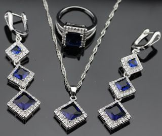 Products that inspire: Sterling Blue Sapphire Jewelry set