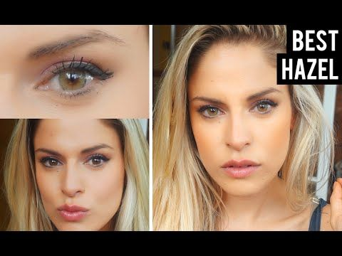 Best Color Contacts for Dark Brown Eyes - Solotica Hazel Review