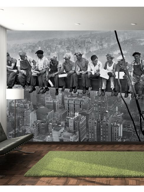 New York Steelworkers Wall Mural 2.32m x 3.15m | Wallpaper | Decor | Bedroom