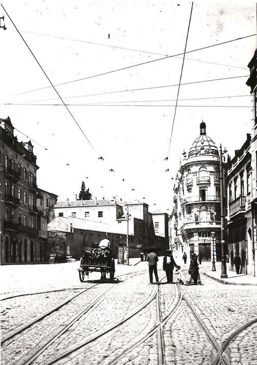 | Inico da Avenida Almirante Reis nos inícios do séc.XX | Fotografia de J.A.L Bárcia