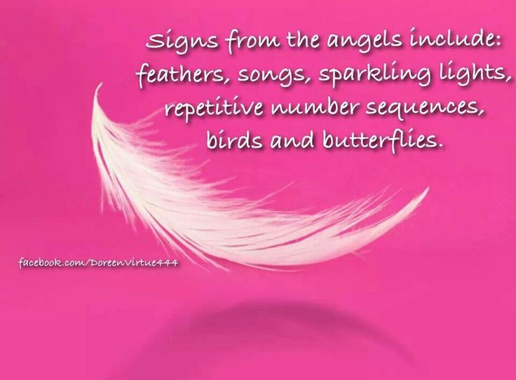Signs from angels