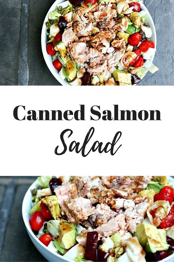 A weekly dinner favorite and everyday salad recipe using wild Alaskan pink canned salmon and simple balsamic vinaigrette!