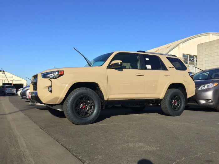 2016 toyota 4runner trd pro quicksand runners toyota runner and colors. Black Bedroom Furniture Sets. Home Design Ideas