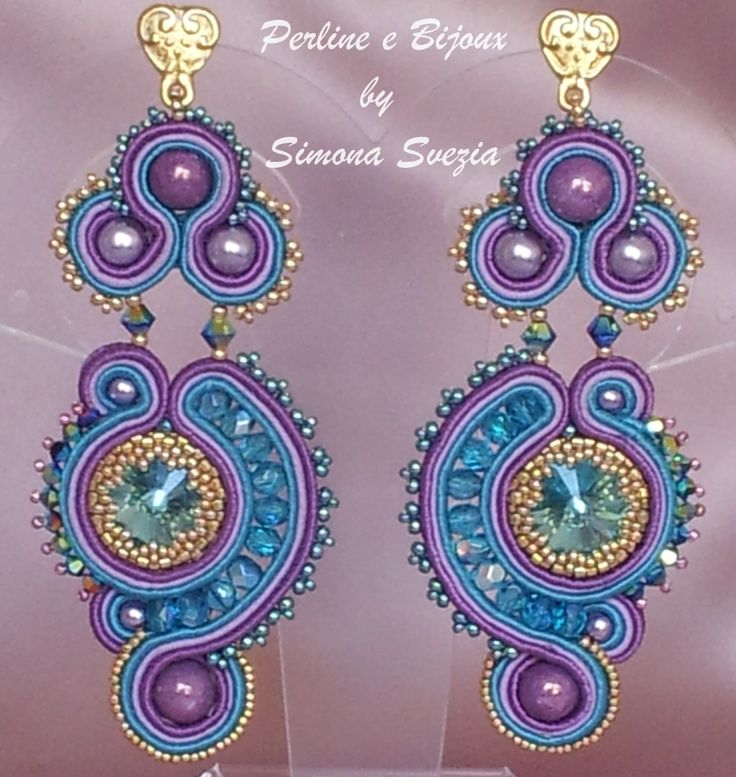 Soutache earrings designed by Simona Svezia (Perline e Bijoux) https://www.etsy.com/it/shop/PerlineeBijoux