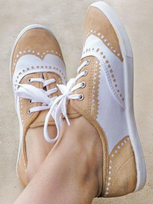 Easy DIY: Faux Painted Oxford Shoes