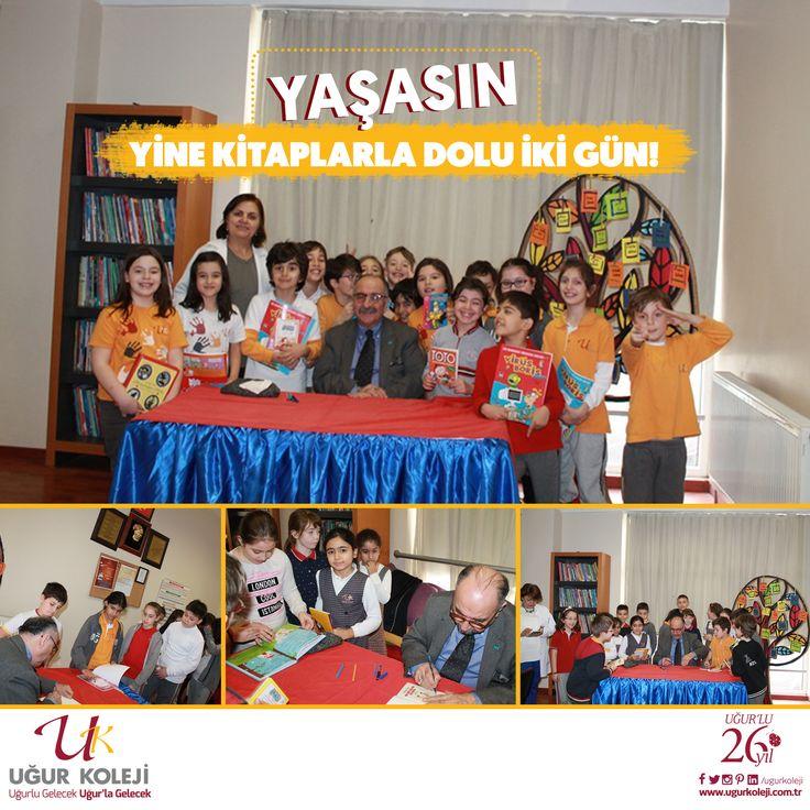 """""""Kitaplarla Dolu İki Gün""""  Çocuk Edebiyatındaki çalışmaları ile çocukların sevgisini kazanan Gazeteci, Yazar Yalvaç URAL bugün okulumuzda öğrencilerimizle birlikteydi.  Kitaplar arasında olmak ve yazarımızla tanışmak, onunla sohbet edip kitaplarını imzalatmak küçük öğrencilerimizi çok mutlu etti. Kitaplar her zaman hayatımızın başköşesinde olsun.  Beylikdüzü Uğur Koleji  www.ugurkoleji.com.tr"""