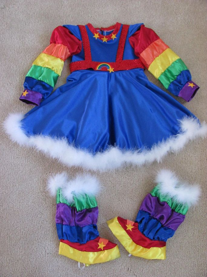 Rainbow Brite Halloween Costume | Rainbow Bright Halloween Costume Pageant OOC Custom Girls Cartoon
