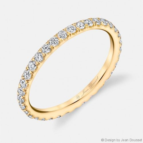 a classic wedding ring design angelina is set with approx 050 carats of colorless - Classic Wedding Rings