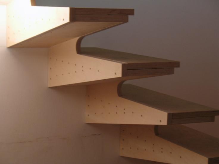 The Poplars plywood box tread stair