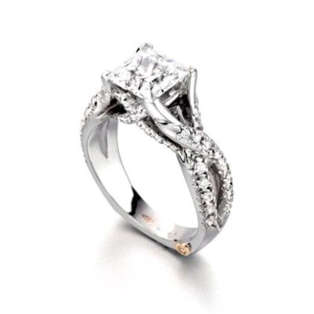 Modern princess cut diamond engagement ring. Ideas, Future, Beautiful ...