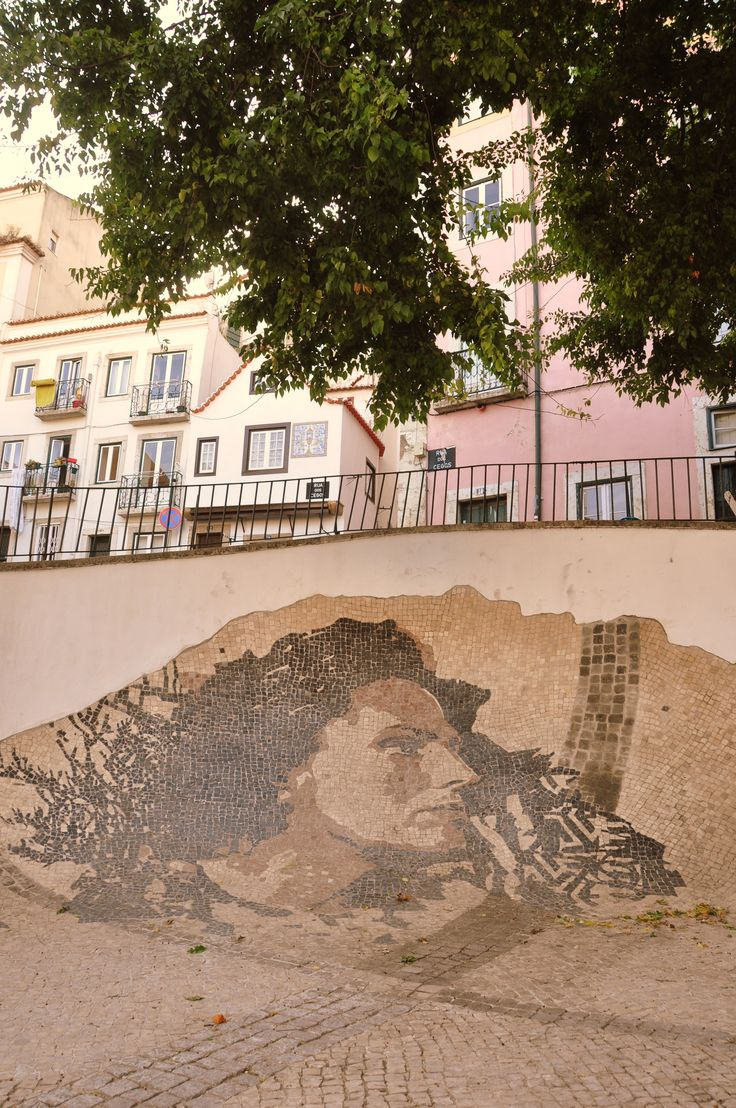 Tribute to Amália Rodrigues by Street Artist Vhils