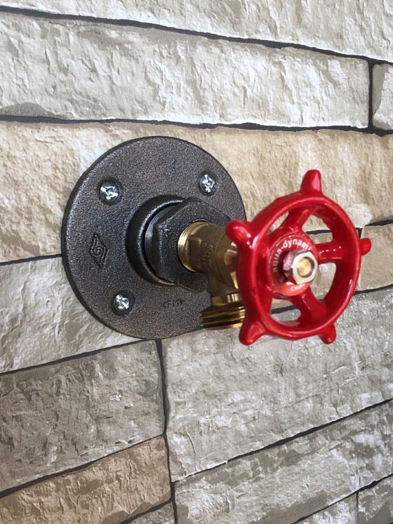 Industrial Red Dial Coat Hook