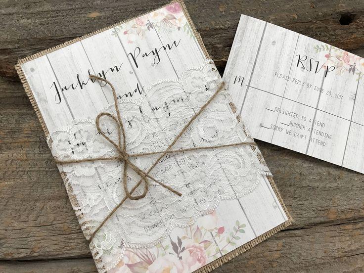 Best 25 Burlap wedding invitations ideas – Burlap Wedding Invite