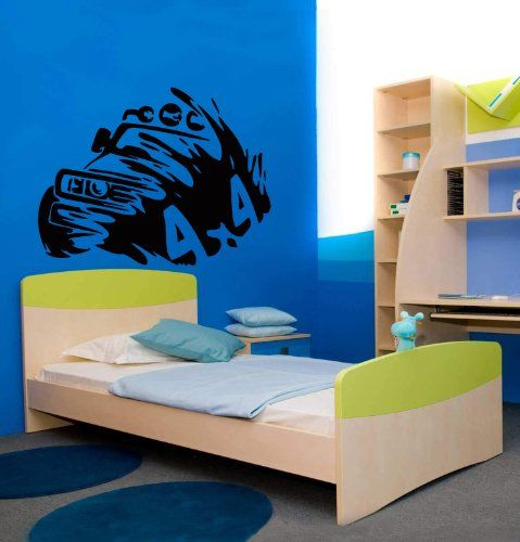 Wall Vinyl Decal Sticker Art Design Truck Racing Off Road Room Nice Picture Decor Hall