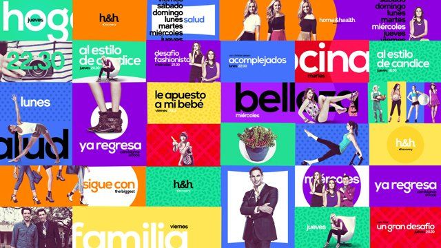 """""""Discovery Home & Health LatAm"""" - Channel Branding 2014   They felt the channel needed more of a """"human touch."""" They wanted something friendly and accessible but still aspirational."""