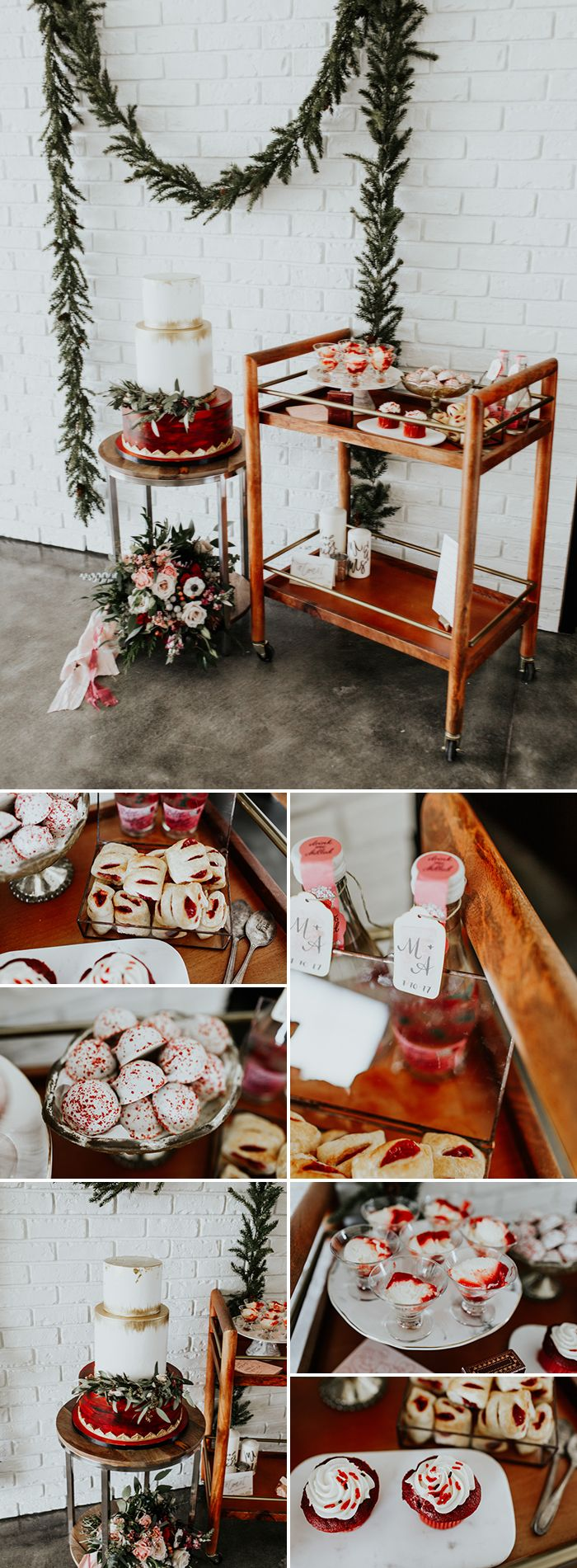 Skip the storebought sugar cookies and sweethearts- this is the right way to do a Valentine's-inspired dessert spread  | Image by Alex Lasota Photography