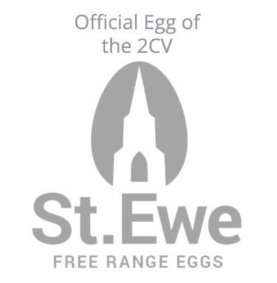 Its the official egg of #2CV its free range from farms across the  #Westcountry Our friends at #steweeggs If you wanted follow the journey of our 10,000 Gifted eggs, follow St Ewe for all the update, recipes & egg events that will be sweeping #Britain this year with the @2CVat70
