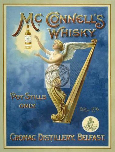 McCONNELLS-BELFAST-IRISH-WHISKEY-WHISKY-VINTAGE-OLD-STYLE-PUB-BAR-SIGN-IRELAND