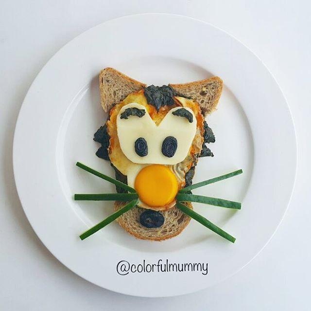 """244 Beğenme, 3 Yorum - Instagram'da Ebru, foodart & children (@colorfulmummy): """"Minik kaplan bugünlerde çok şaşkın... Little tiger is confused these days... . Yumurtalı ıspanak…"""""""
