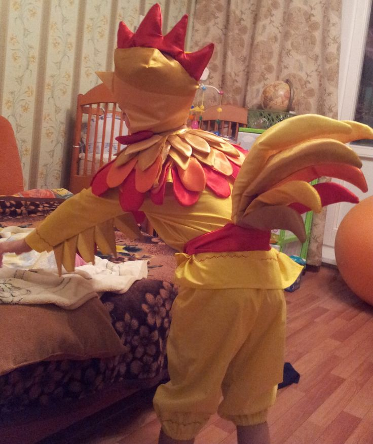 "Новогодний костюм ""Золотой петушок""/Christmas costume ""The Golden Cockerel"" (based on the tale of Alexander Pushkin)"