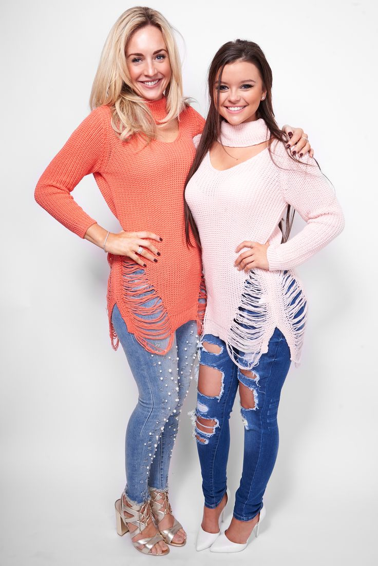 Choker Chic! Shop our choker knit jumpers in coral and baby pink in new arrivals! One of our best sellers! https://www.havetolove.com/collections/new-arrivals #new