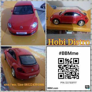 HOBI DISTRO: GROSIR MINIATUR MOBIL  / DIECAST VW BEETLE SKALA 1...